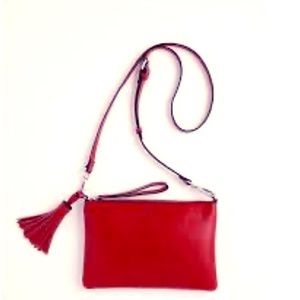 J Jill Red Leather Convertible Bag NWOT
